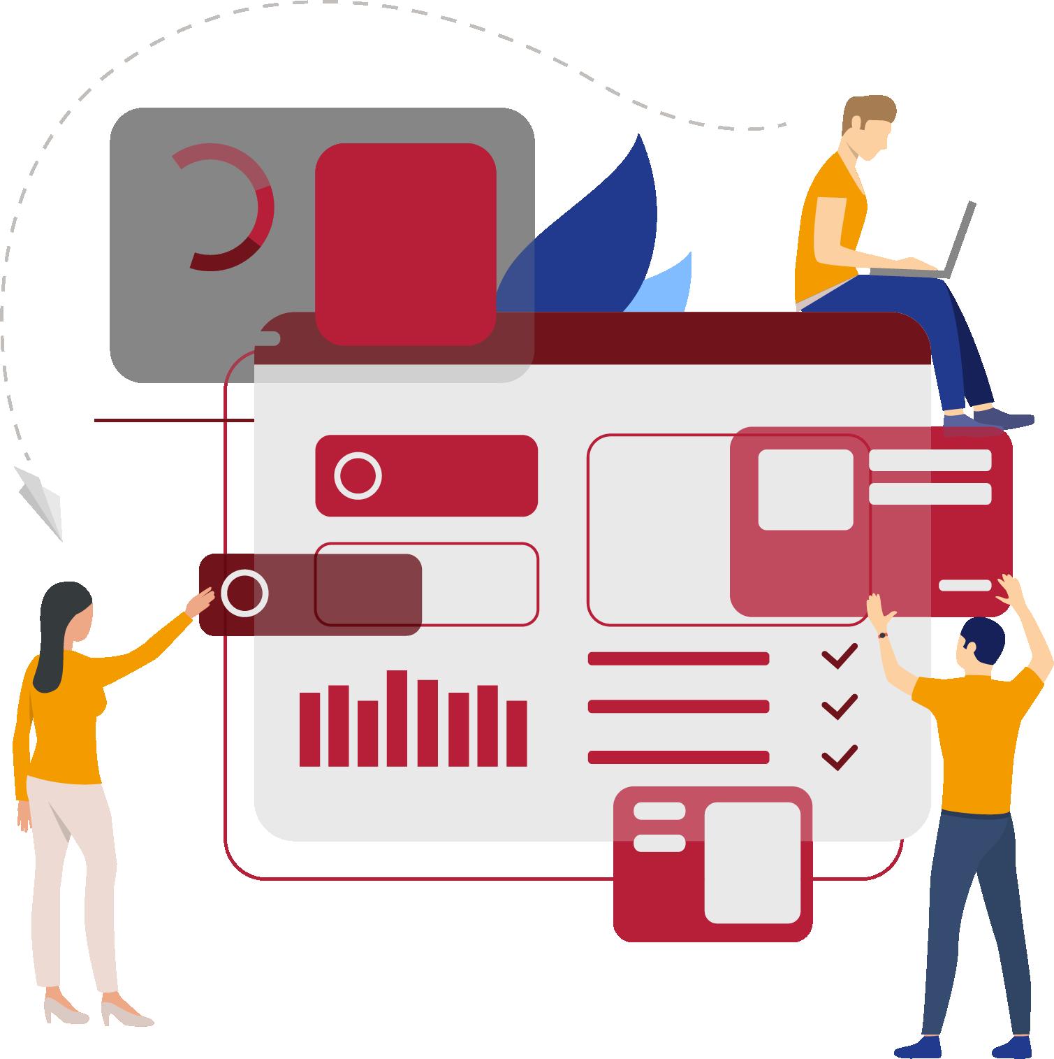 Individuelle Arbeitsabläufe Anwendungen Benutzeroberfläche